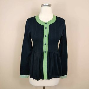 Piazza Sempione Cardigan Sweater Navy IT 42